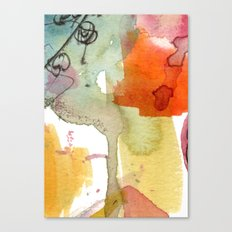 watercolour floral abstract Canvas Print
