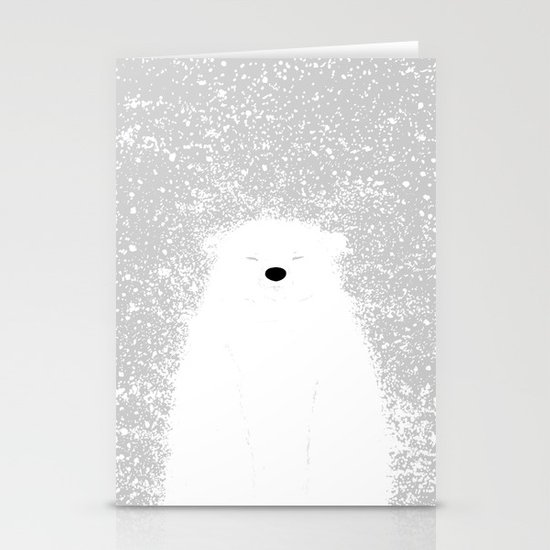 Its A Polar Bear Blinking In A Blizzard Stationery Cards