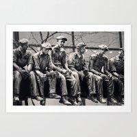30 rock Art Prints featuring Lunch Break 30 Rock by Debbie Wibowo