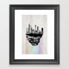 þar á bak við hæðirnar Framed Art Print