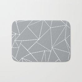 Abstract Dotted Lines Grey Bath Mat