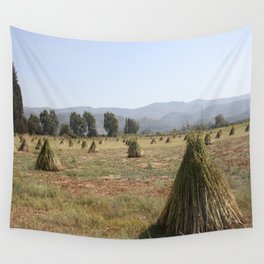 Sesame Crop and Harvest Wall Tapestry