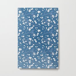 Blue Japanese Garden Metal Print