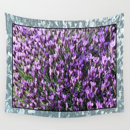 SPANISH LAVENDER AND ONE BEE Wall Tapestry