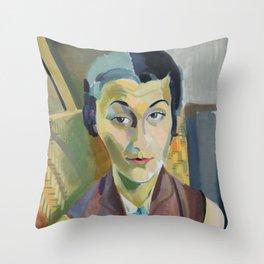 "Robert Delaunay ""Portrait of Maria Lani"" Throw Pillow"