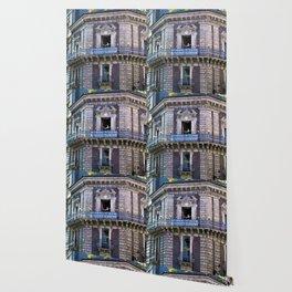 Sicilian facade of Baroque in Catania Wallpaper