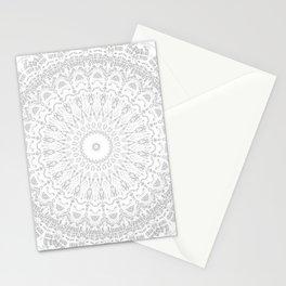 Grey Threads Mandala Stationery Cards
