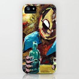 A Man in the Bar iPhone Case