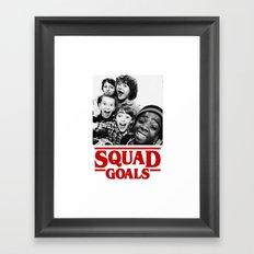 Stranger Things Squad Goals Framed Art Print