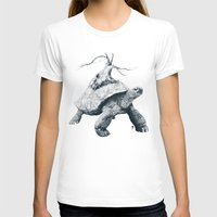 tortoise T-shirts featuring Tortoise Tree by Adam Dunt