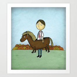 Horseback Art Print