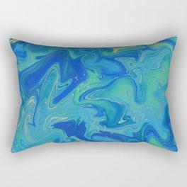 Blue Dream Liquid Art Rectangular Pillow