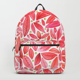 Red and Pink Leaves with Green Berries Backpack
