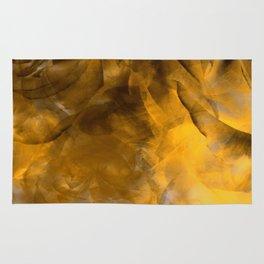 Smokey Bronze & Gold Abstract Rose Garden Rug