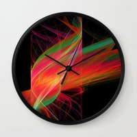carnival Wall Clocks featuring carnival by Susanne Herppich