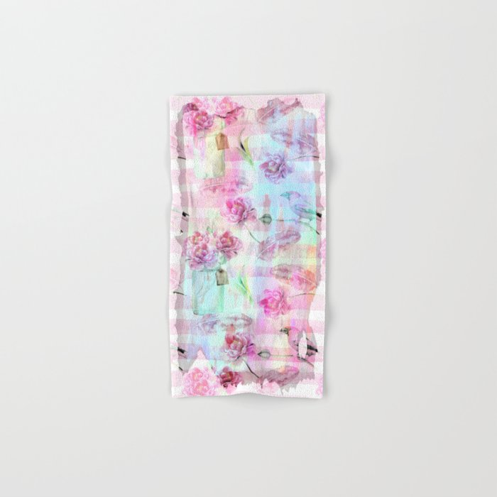 Summer pattern - Floral Flowers in pink on #Society6 Hand & Bath Towel