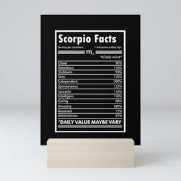 Astrology - Awesome Zodiac Sign - Scorpio Mini Art Print