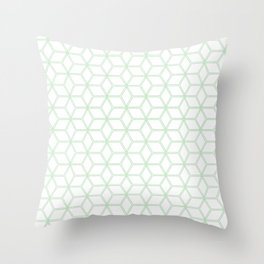 Hive Mind Mint Green #216 Throw Pillow