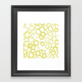 Watercolor Circle Ochre Framed Art Print