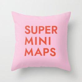Superminimaps Throw Pillow