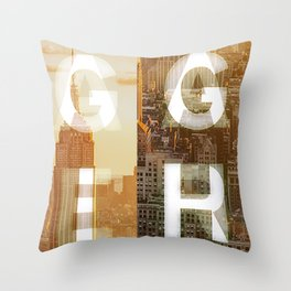GEARS of NYC Throw Pillow
