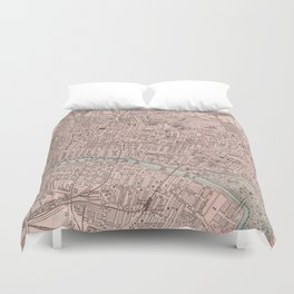 Vintage Map of Glasgow Scotland (1901) Duvet Cover