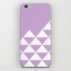 Abstract geometric pattern - purple and white. iPhone Skin