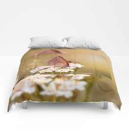 Ringlet brown butterfly Comforters