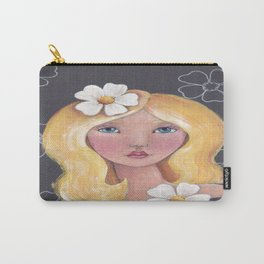 Whimiscal Girl With Blond Hair Carry-All Pouch