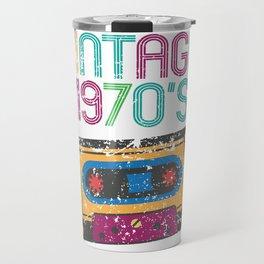 Vintage 1970's Funny Cassette Retro Travel Mug