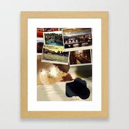 """"""" I've been all around the world """" Framed Art Print"""