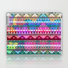 Neon Aztec | Purple Pink Neon Bright Andes Abstract Pattern Laptop & iPad Skin