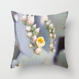 Yellow Desert Blooms Throw Pillow