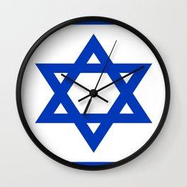 Flag of Israel Wall Clock