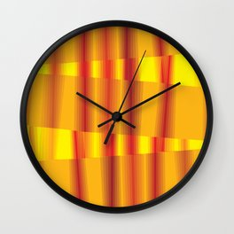 Through the Fire - Currere Per Ignem Wall Clock