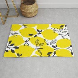Lemon Pattern Illustration Rug