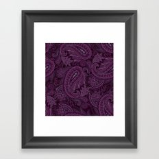 Meredith Paisley - Purple Framed Art Print