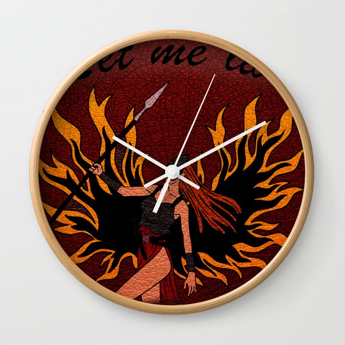 Resident Evil Claire Redfield Jacket Wall Clock