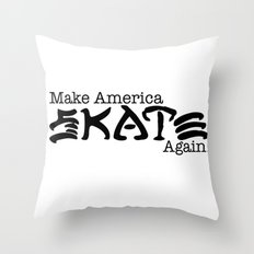 Skate Again Throw Pillow