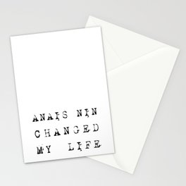 Anais Nin Changed My Life Stationery Cards