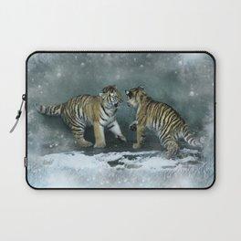 Playful Tiger Cubs Laptop Sleeve
