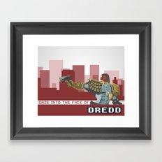 Gaze Into the Face of Dredd Framed Art Print