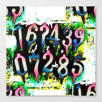 numbers Canvas Prints featuring Numbers! by gasponce