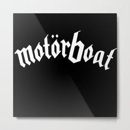 Motorboat Metal Print