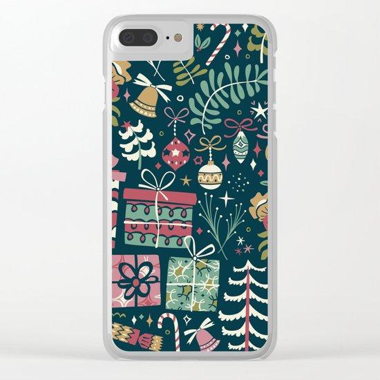 Christmas Joy Clear iPhone Case