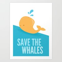 SAVE THE WHALES Art Print
