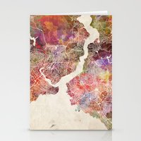 istanbul Stationery Cards featuring Istanbul by MapMapMaps.Watercolors