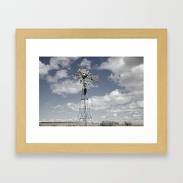 VINTAGE WINDMILL Framed Art Print