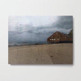 Malibu Ocean Storm Metal Print
