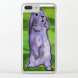 Inspiration Bunny Clear iPhone Case